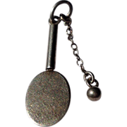Vintage Sterling Silver Tennis Racket & Ball Charm