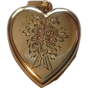 Vintage Gold Filled Heart Shape Double Locket