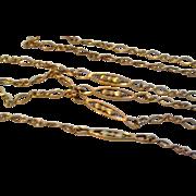 Victorian Gold Filled Lorgnette Muff Chain