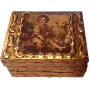Vintage Gold Gilt. Box