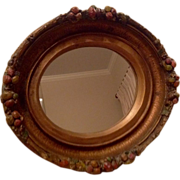 Vintage Barbola Oval Hanging Mirror