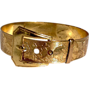 Victorian Gold Filled Child's Animal Motif Buckle Bracelet