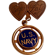 Vintage 1940's  U. S. Navy Sweetheart Pin