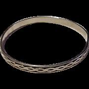 Vintage Sterling Silver Bangle Bracelet