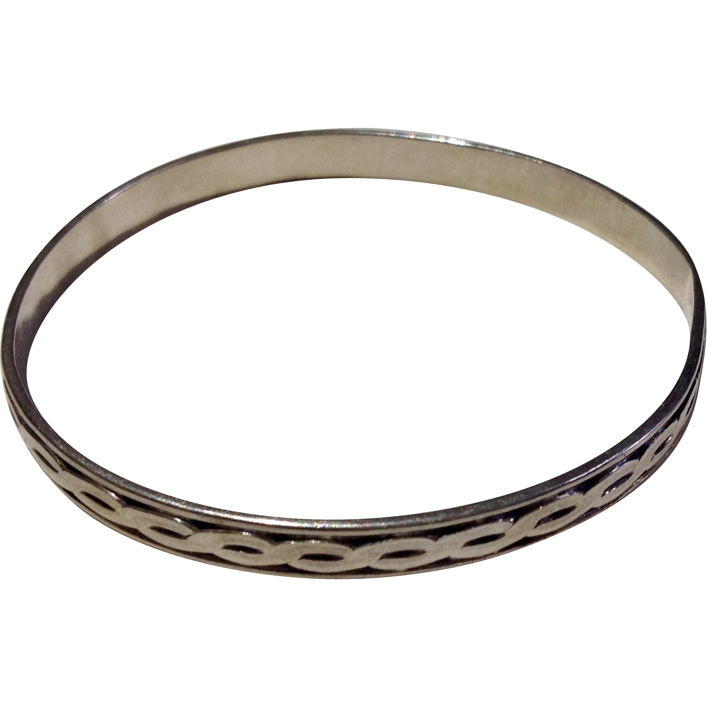vintage sterling silver bangle bracelet from