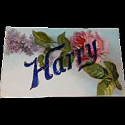 Vintage Embossed Floral Postcard - Red Tag Sale Item