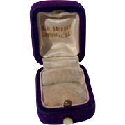 Vintage Purple Velvet C. H. Baldwin Ring Display Box - Red Tag Sale Item