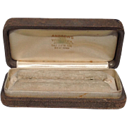 Vintage Wooden Andrews & Wineten Jewelry Store Brooch Or Pin Display Presentation Box