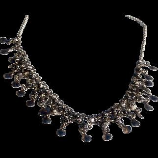 Vintage Norwegian Solje Sterling Silver Filigree  Festoon Wedding Necklace