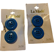 Vintage Set Of Two La Mode Buttons Made In Italy