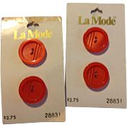 Two Sets Of La Mode Buttons Made In Holland