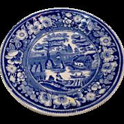 Victorian Wild Rose Staffordshire Plate