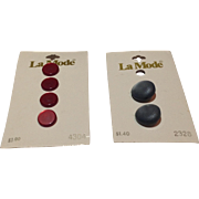 Vintage Two Sets Of La Mode Buttons