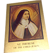 Vintage St Therese Of The Child Jesus Prayer Card
