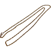 "Vintage 22"" 14 K Yellow Gold Chain"