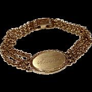 Vintage Speidel USA I D Bracelet