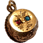 Victorian Gold Filled Watch Fob Orb