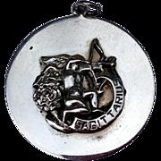 1940'S Large Vintage Cini Sterling Silver Sagittarius Three Dimensional Charm Pendant