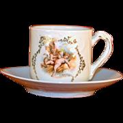 Vintage Childs Cherub Cup and Saucier Set