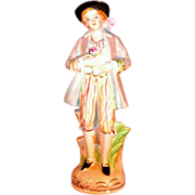 Vintage Hand Painted Figurine 8""