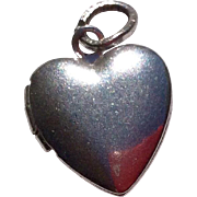 Vintage Sterling Silver Puffy Heart Photo Locket