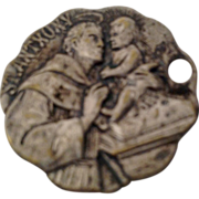 St Anthony Silver Tone Catholic Medal Dog Tag