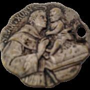 St Anthony Silver Tone Catholic Medal