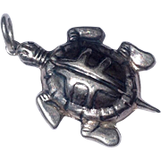 Vintage Sterling Silver Turtle Charm Or Pendant