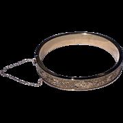 Vintage 10 K Gold Filled Hinged Bangle Bracelet