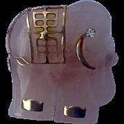 Vintage Pink Elephant Pearl Enhancer