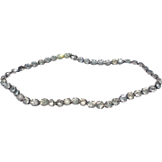 Vintage Sterling Silver Clear Rhinestone Paste Necklace