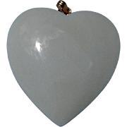Vintage Bone Puffy Heart Pendant