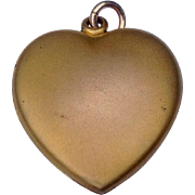 Vintage Gold Tone Metal Double Photo Heart Locket