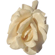 Vintage Hand Carved Bone Gardenia