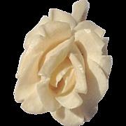 Vintage Hand Carved Bone Gardenia