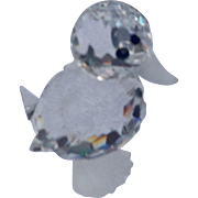 Retired Swarovski Crystal Standing Mini Duck
