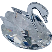 Retired Swarovskii Crystal Mini Swan