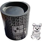 Retired Swarovski Crystal Small Bear - Red Tag Sale Item