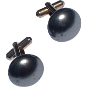 Vintage Silver Gray Cuff Links