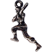 Vintage Sterling Silver Running Football Player