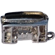 Vintage Sterling Silver Trolley Or Street Car Charm