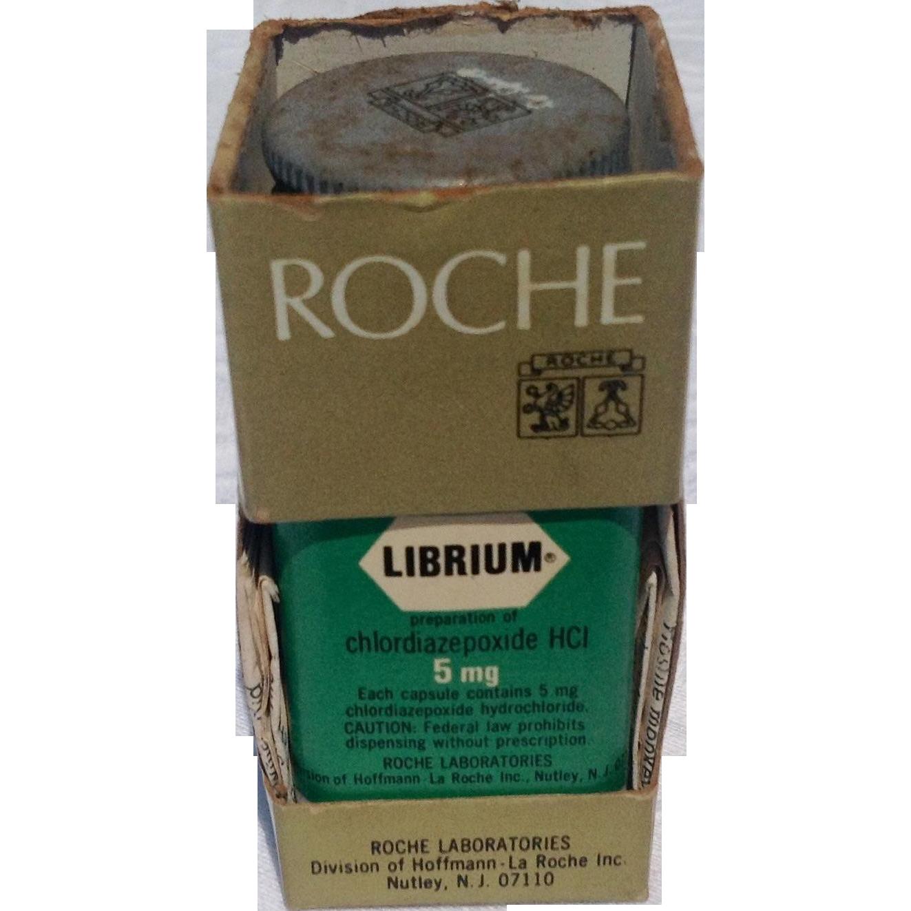 Vintage Roche Librium 1960 S Plastic Bottle In Original