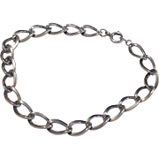 """Vintage Sterling Silver 7 1/2"""" Charm Bracelet"""