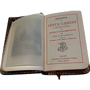 Antique Leather French Imitation Of Jesus Christ Prayer Book