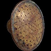 Vintage Brass Perforated Watering Can Sprinkler Head