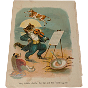 Victorian Chromolithograph Page From A Victorian Nursery Rhyme Book