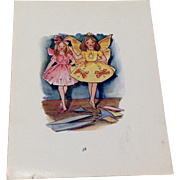 Vintage 1914 Hand Colored Picture From A Children's Book