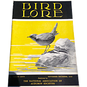 Vintage November - December 1939 Bird - Lore Published By The National Association Of Audubon Societies