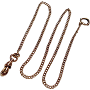 ON HOLD FOR LES-----Vintage 14 K Gold Filled Watch Chain