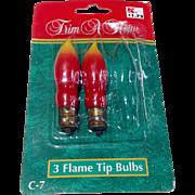 Vintage Trim A Home Christmas Flame Tip Light Bulbs